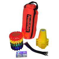 POWERFLARE Cone Kit with Triage Marker Light Kit - Four Pack
