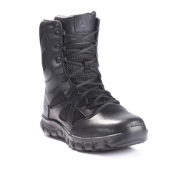 REEBOK 8 Inch SUBLITE Cushion Tactical Side Zip Boots (Black)
