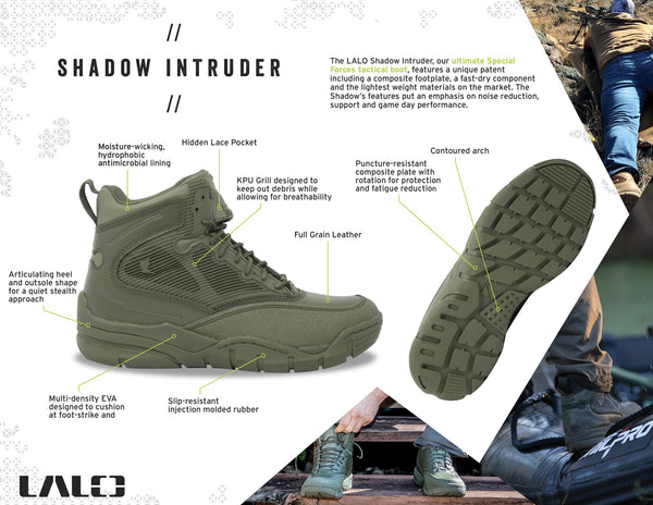 "SHADOW INTRUDER 8"" Black Ops"