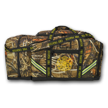GEAR BAGS/LIGHTNING X Premium Camouflage 3XL Firefighter Step-In Gear Bag w/ Helmet Compartment – Deep Woods Camo