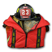 GEAR BAGS/LIGHTNING X Compact Boot Style Firefighter Turnout Gear Bag w/ Triple Trim Reflective & Maltese Cross Logo