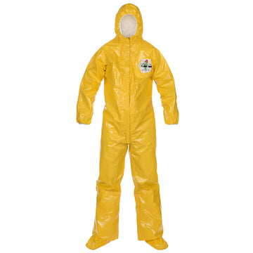 ChemMax® 4 Plus Coverall - Respirator Fit Hood/Boots/Boot Flaps