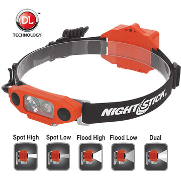 BAYCO NIGHTSTICK - DICATA™ Intrinsically Safe Low-Profile Dual-Light™ Headlamp