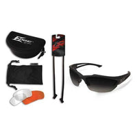 Acid Gambit 3 Lens Kit - Scratch-Resistant Polarized Safety Glasses , Clear, Tiger's Eye, Smoke Lens Color