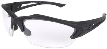 Acid Gambit Tactical Safety Glasses with Black Frame and Clear Lens