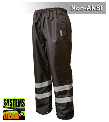 Safety Pants: Reflective Pants: Breathable Waterproof - Black