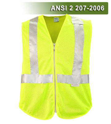 Public Safety Vest: Hi Vis Vest: 5pt Breakaway: Tactical/DOT Zippered Mesh