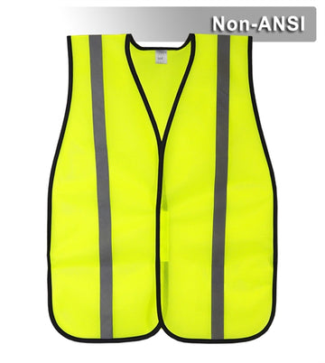Value Safety Vest: Hi Vis Lime or Orange Lightweight Mesh: One Size Fits Most