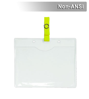 Clear Credential - ID Pocket: Orange or Lime: Steel Gripper