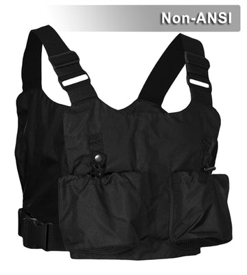 Chest Harness Safety Vest: Flame Resistant Fabric: Black: Adjustable Straps