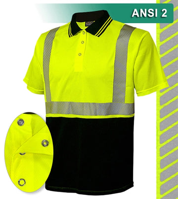 Safety Polo: HACCP Polo Shirt: Two-Tone Birdseye: Comfort Trim by 3M™