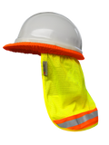 Safety Sun Shade: Hi Vis Neck Shade for Hard Hats: Reflective