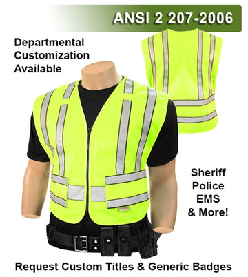 Public Safety Vest: Hi Vis Vest: 4pt Breakaway Tactical: ANSI 207