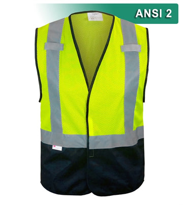 Economy Safety Vest: Hi Vis Mesh: No Pockets: ANSI 2