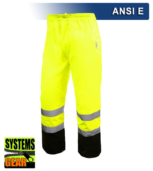 Safety Pants: Hi Vis Orange or Lime Pants: Breathable Waterproof: ANSI E