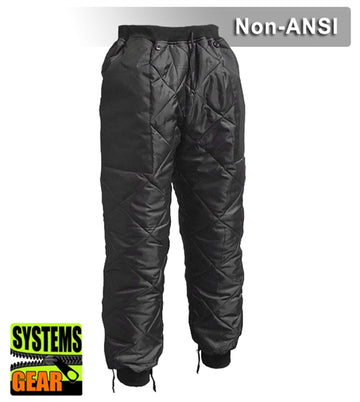 Safety Pants: Insulated Pants Liner: Quilted