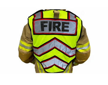 ULTRABRIGHT RED-FIRE PUBLIC SAFETY VEST