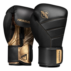 hayabusa t3 gloves black and gold