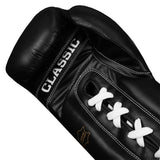 TITLE Classic Lace-Up Gloves (Black)