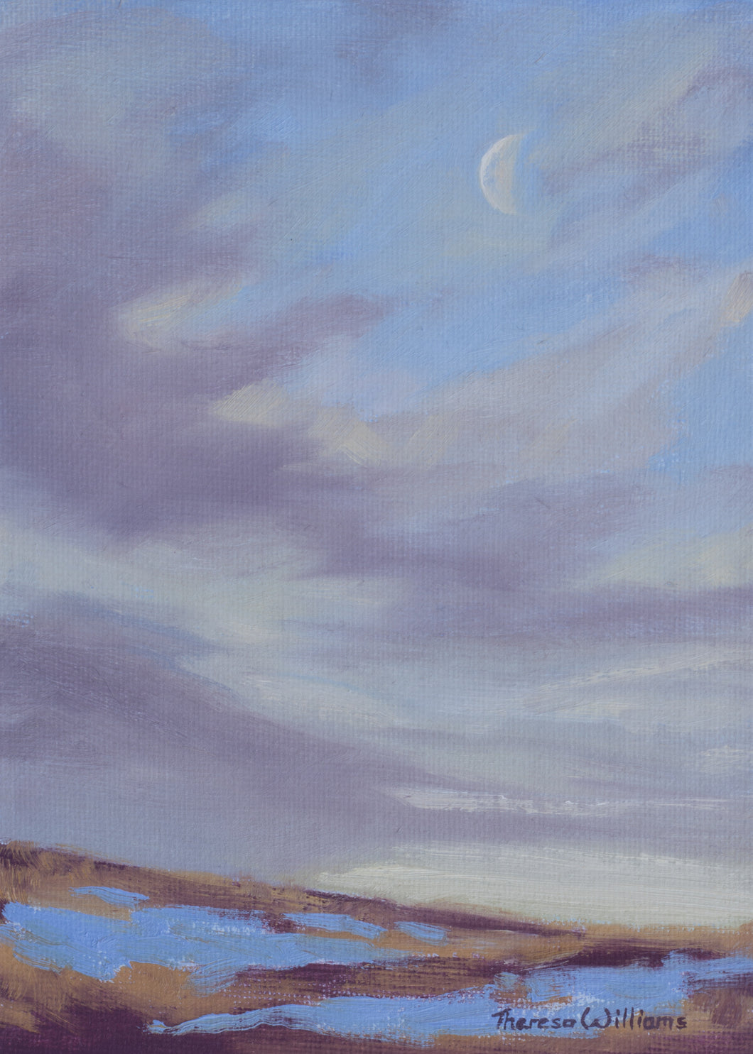 Moonset (Plein Air)