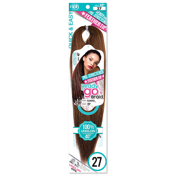 Riah Pre Stretched Feater Tip Ready-to-go Braid hair Synthetic 40inch