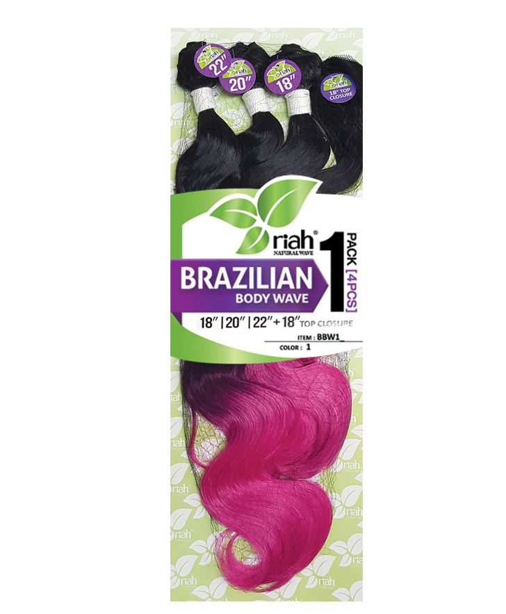 Riah Brazilian Loose / Body Wave Synthetic Weaving Hair 4 pcs pack