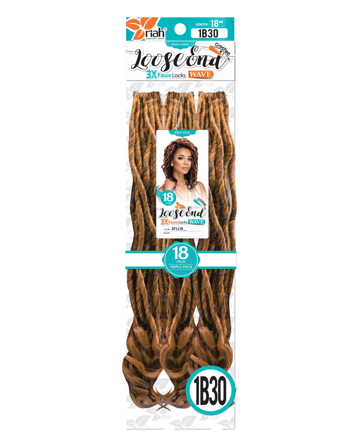Riah Crochet Braiding Loose End Faux Lock Synthetic 14 inch