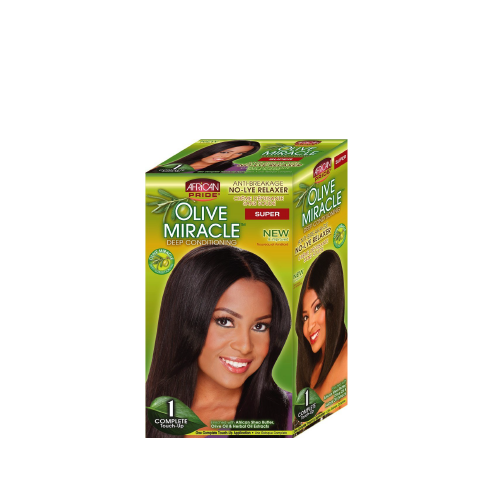 African Pride Olive Miracle Relaxer Touch-up Super - 1 application