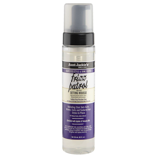 Aunt Jackie's Grapeseed Frizz Patrol Anti Poof Setting Mousse