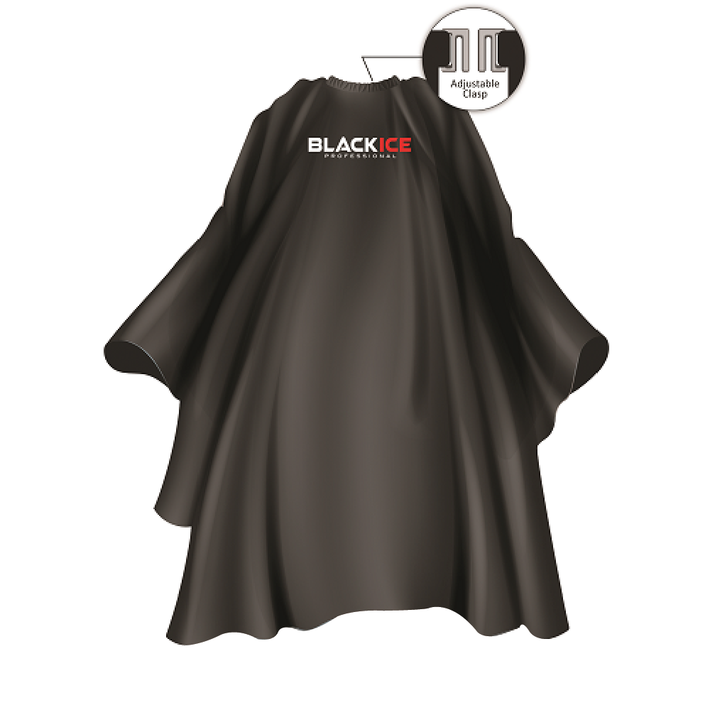 "Black Original Black Logo Barber Cape 59""x 55"""