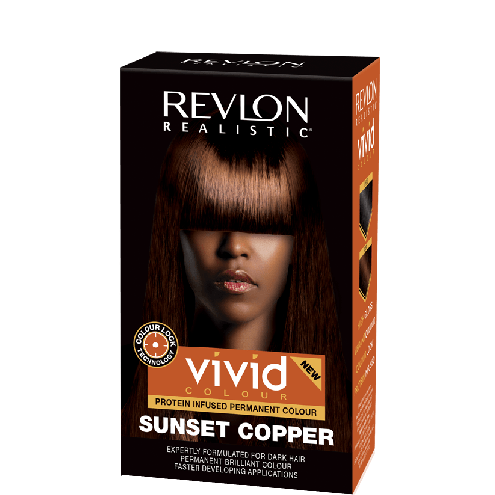 Revlon Realistic Vivid Hair Color Sunset Copper