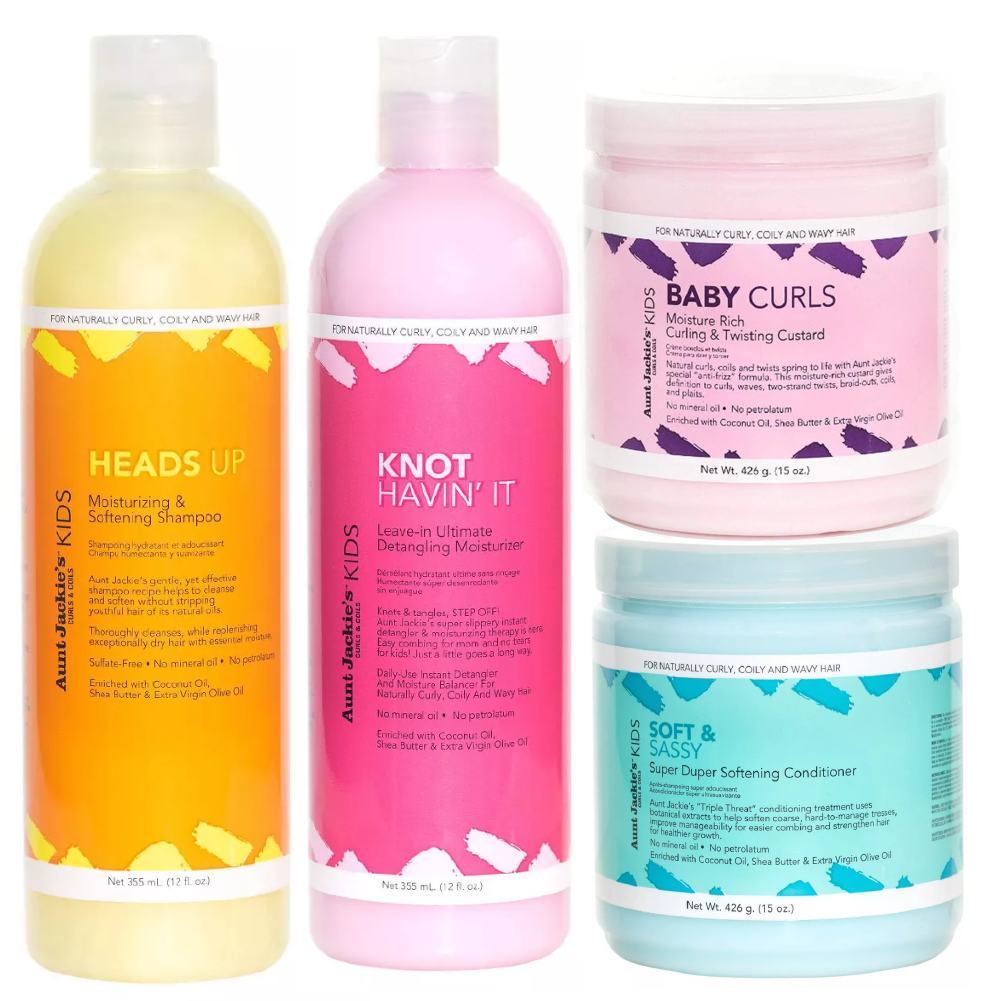 Aunt Jackie's Kids Wash-and-go 4-Product Set