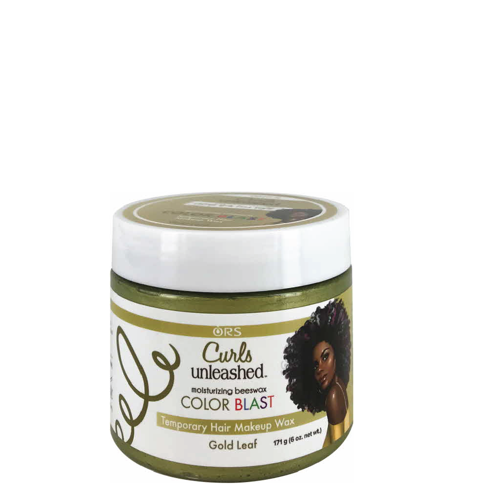 Curls Unleashed Color Blast Temporary Hair Makeup Wax Gold Leaf