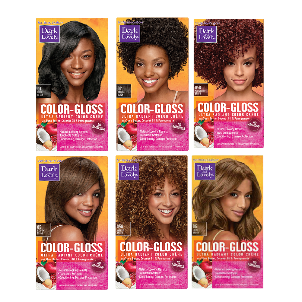 Dark & Lovely Color Gloss Semi Permanent Hair Color Medium Red Brown O5R