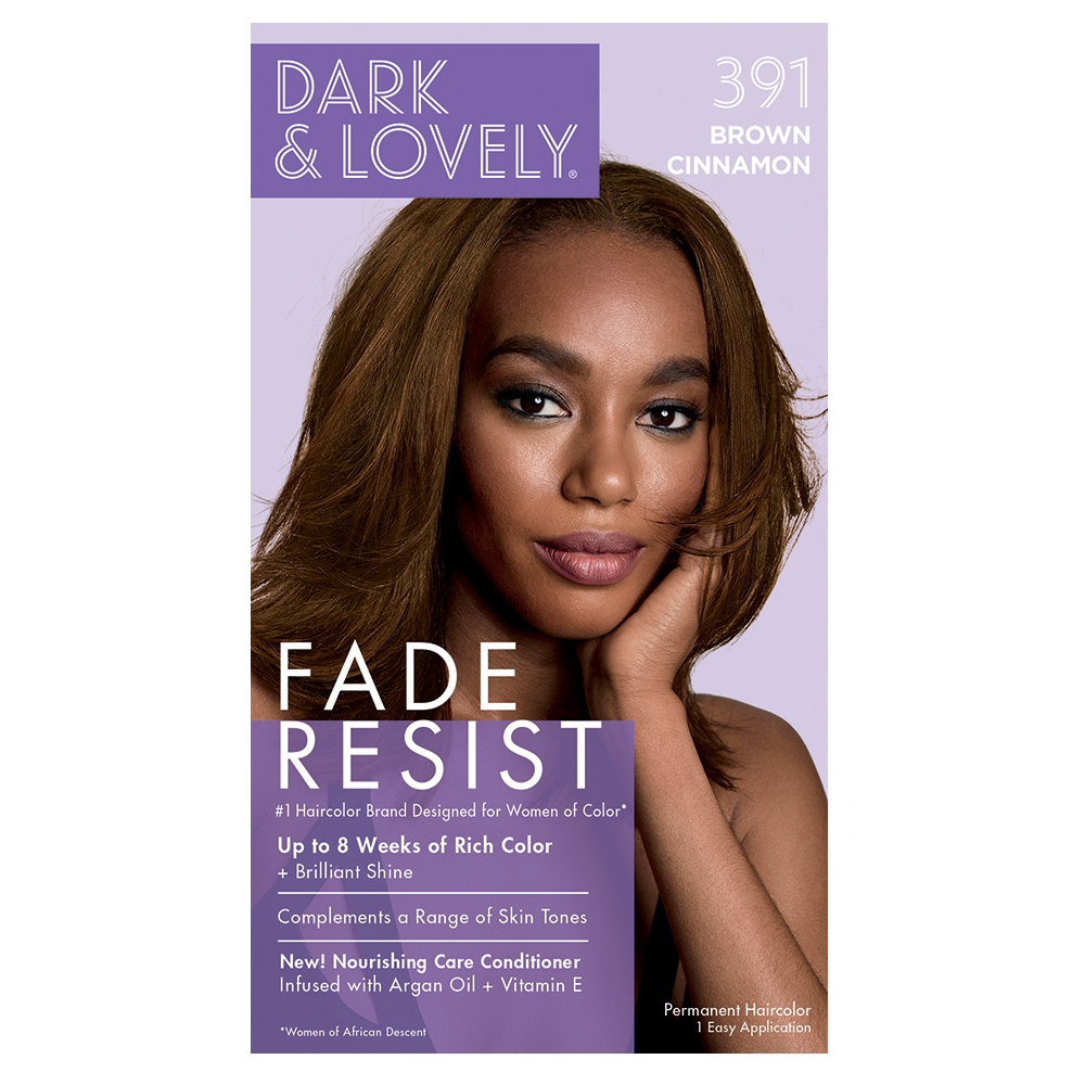 Dark & Lovely Fade Resist Rich Conditioning Permanent Hair Color Brown Cinnamon 391