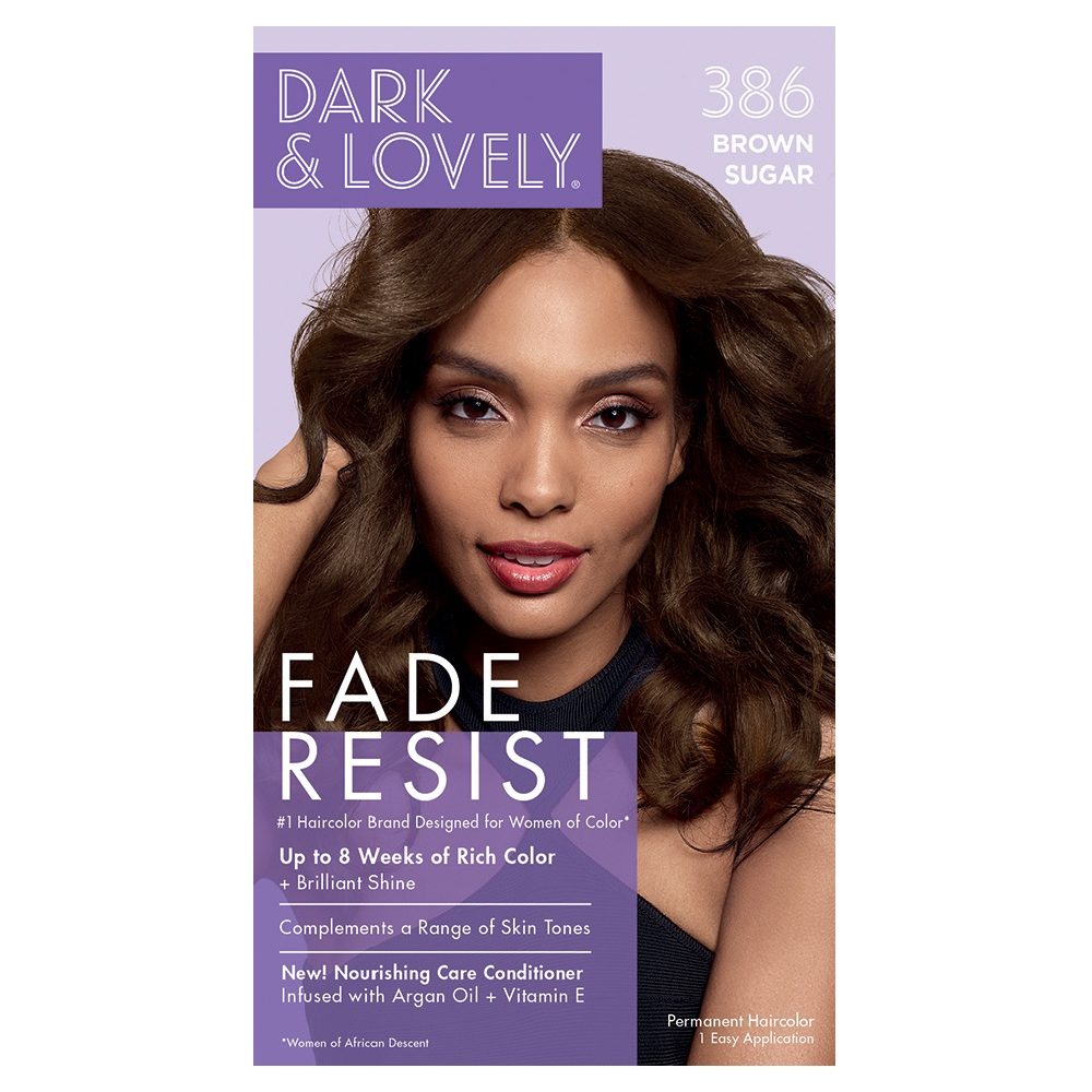 Dark & Lovely Fade Resist Rich Conditioning Permanent Hair Color Brown Sugar 386