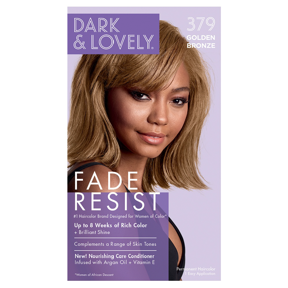 Dark & Lovely Fade Resist Rich Conditioning Permanent Hair Color Golden Bronze 379