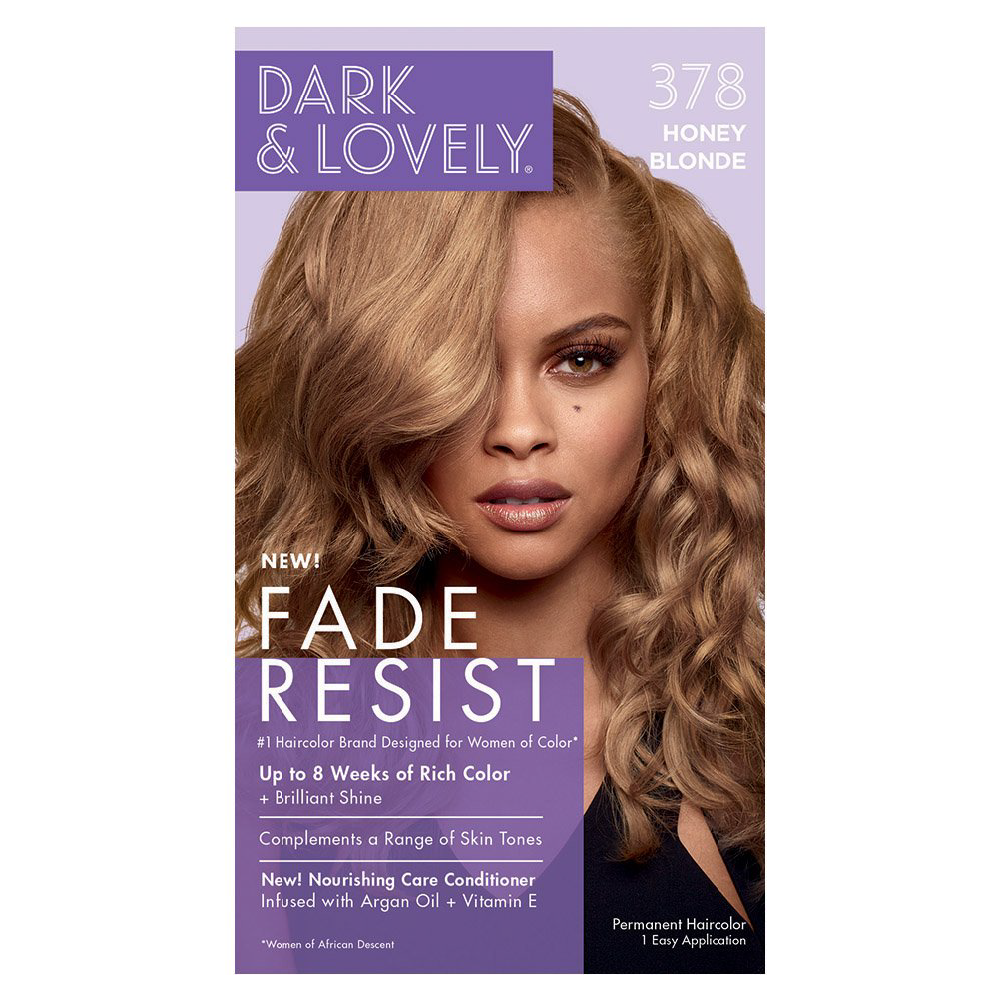 Dark & Lovely Fade Resist Rich Conditioning Permanent Hair Color Honey Blonde 378
