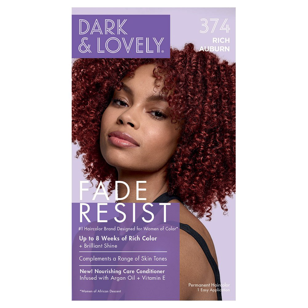 Dark & Lovely Fade Resist Rich Conditioning Permanent Hair Color Rich Auburn 374
