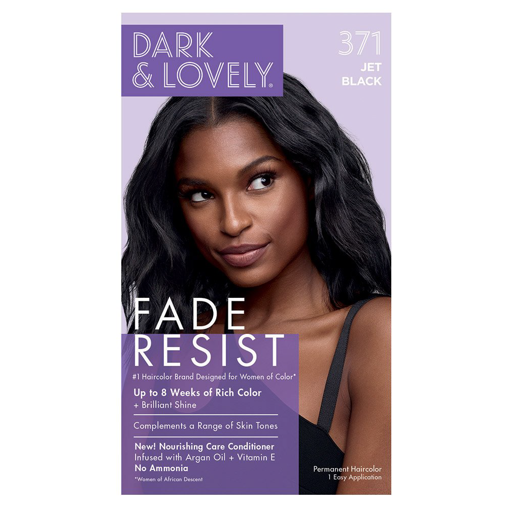 Dark & Lovely Fade Resist Rich Conditioning Permanent Hair Color Jet Black 371