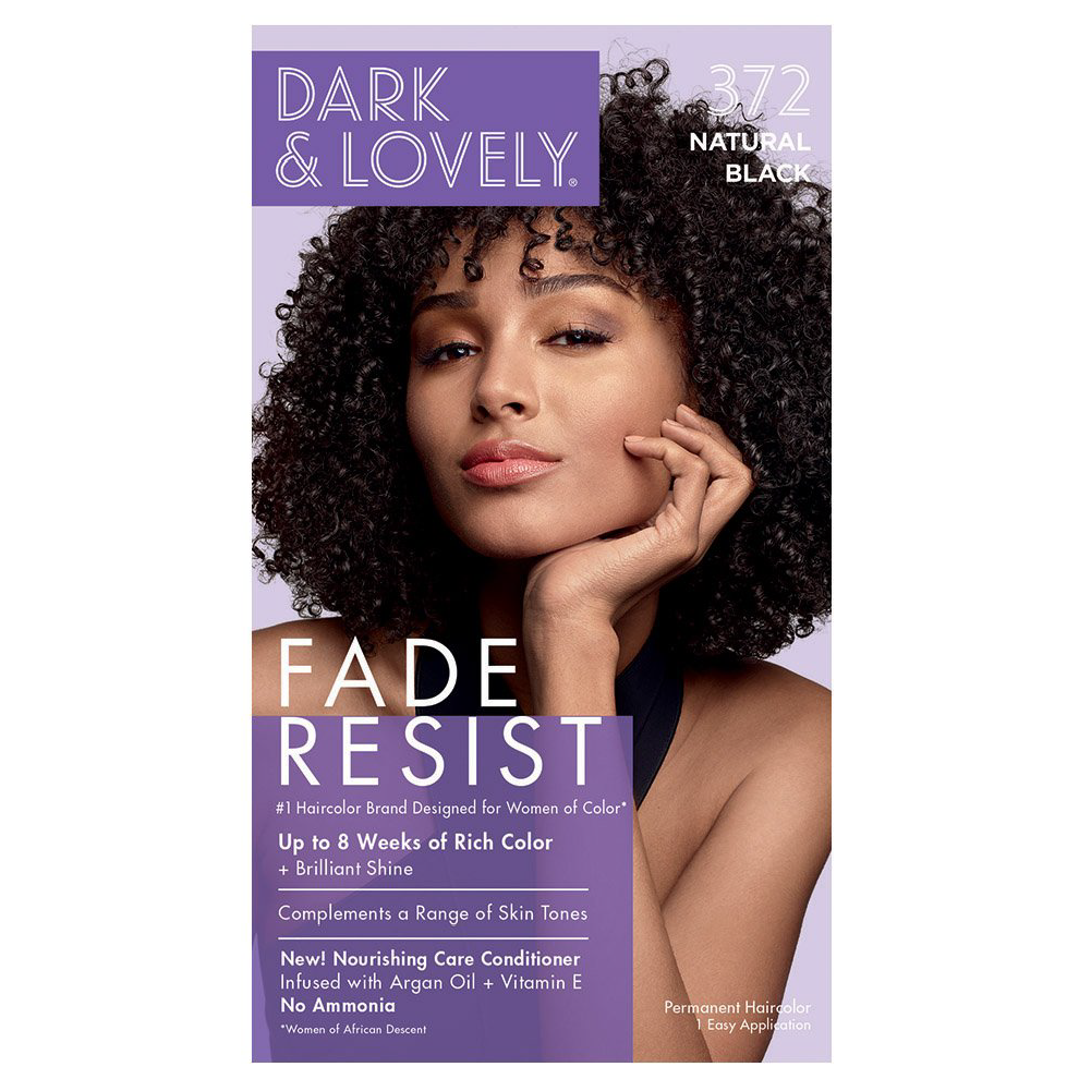 Dark & Lovely Fade Resist Rich Conditioning Permanent Hair Color Natural Black 372