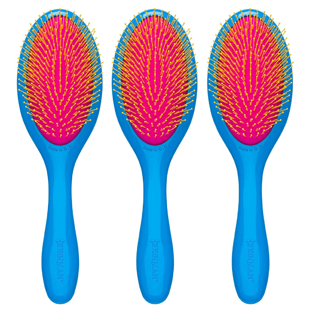 Denman Tangle Tamer Gentle Blue Bright Brush