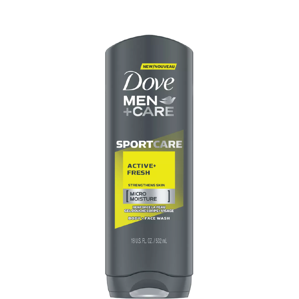Dove Men + Care Body and Face Wash Active Fresh