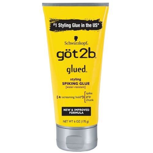 Schwarzkopf Got2b Glued Spiking Max Hold Hair Styling Glue Gel, 6oz
