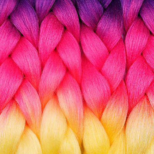 Unicorn Kanekalon Ombre Synthetic Braid Hair (24-inch, Single Pack)