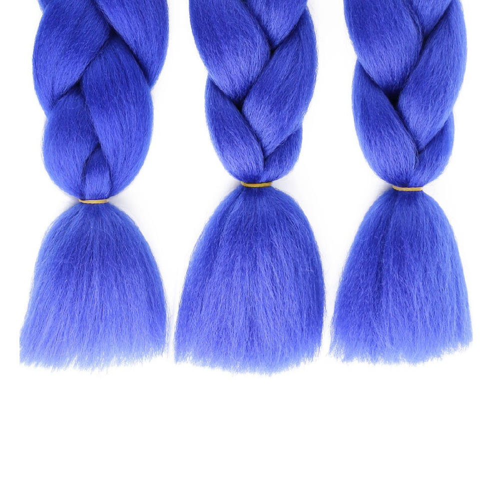 Black to Blue Kanekalon Ombre Synthetic Braid Hair (24-inch, Single Pack)