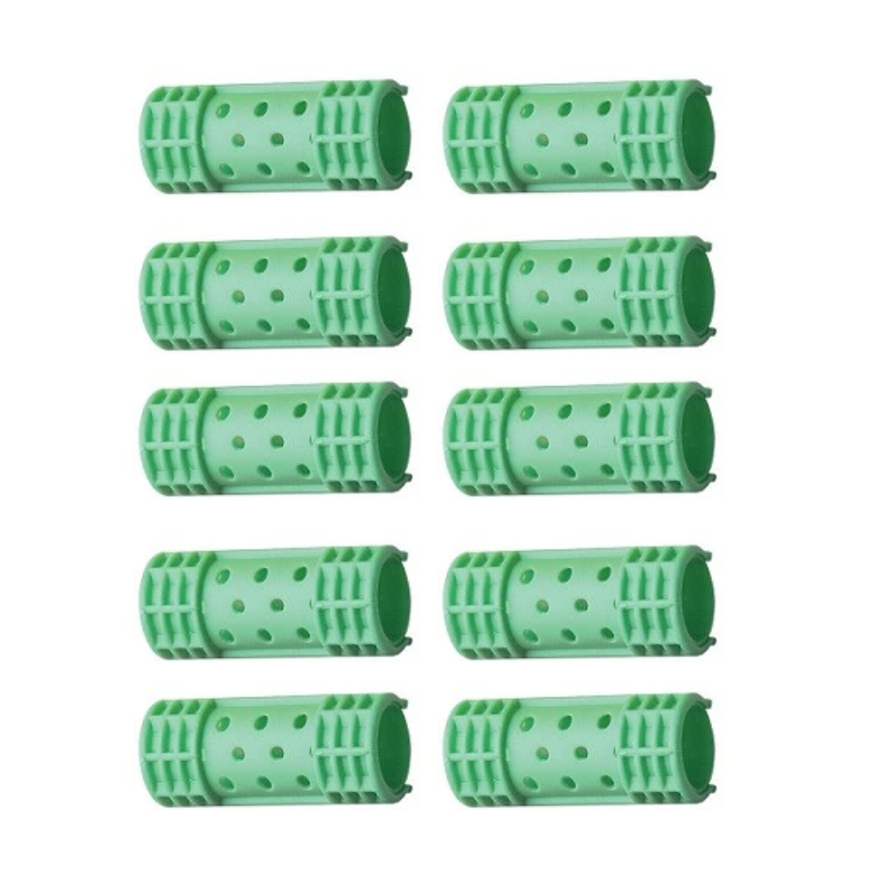 "Diane Snap-On Magnetic Rollers Green, 7/8"", 10 Count"