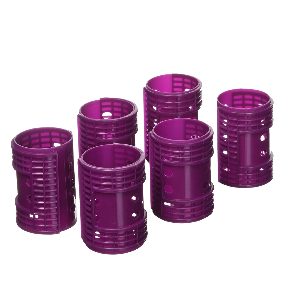 "Diane Snap-On Magnetic Rollers Purple, 1.75"", 6/bag"