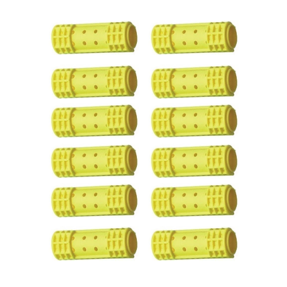 "Diane Snap-On Magnetic Rollers Yellow, 11/16"", 12/bag"