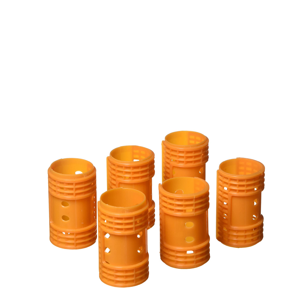 "Diane Snap-On Magnetic Rollers Orange, 1.5"", 6/bag"